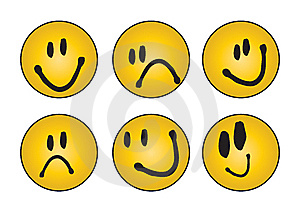 Six Different Faces - Vector Royalty Free Stock Photo - Image: 6700165