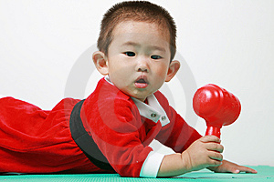 Chinese Santa Boy Royalty Free Stock Photography - Image: 6700767