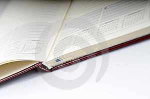 Blank, Opened Agenda Stock Images - Image: 6701334