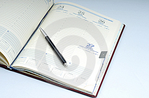 Blank, Opened Agenda Stock Photo - Image: 6701460