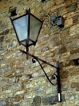 Lamp On A Wall Stock Photo - Image: 6701980