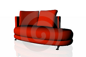 Modern Red Divan Royalty Free Stock Photography - Image: 6703857