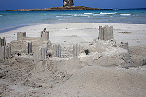 Sand Castle - Real Castle Stock Photography - Image: 6704272