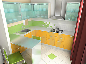 Interior of kitchen Stock Photos