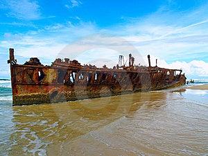 Maheno Wreck Stock Photography - Image: 6705312