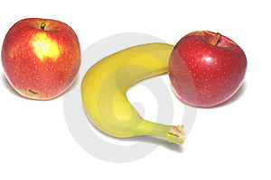 Apple Macintosh And Banana Royalty Free Stock Photography - Image: 6706517