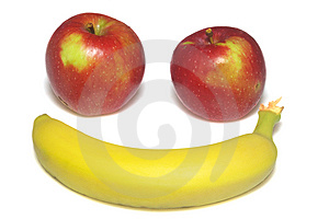 Apple Macintosh And Banana Stock Image - Image: 6706541