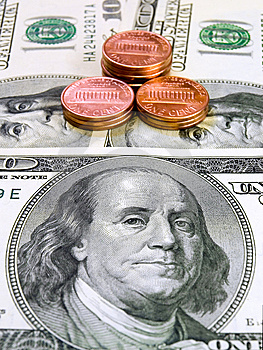 Dollars And Penny Stock Photography - Image: 6706882