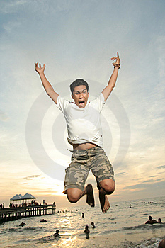 Exciting At Tropical Beach Stock Images - Image: 6707084