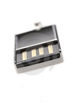 Silver USB Stock Image - Image: 6709941