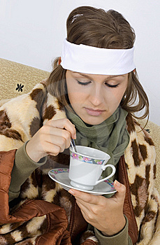 Very Sick Young Woman Stock Photo - Image: 6710620