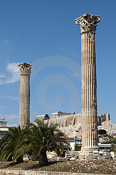 Temple Of Olympian Zeus Royalty Free Stock Photo - Image: 6711045