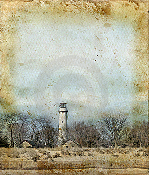 Lighthouse On A Grunge Background Stock Photography - Image: 6712212