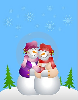 Lesbian Snow Woman Couple Stock Photography - Image: 6712502