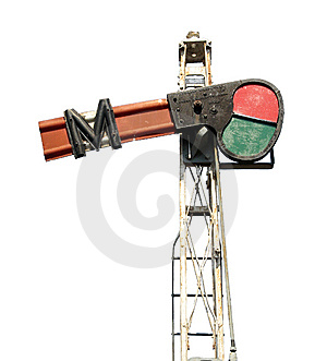 Antique Railway Signal, Semaphore Stock Photography - Image: 6715332