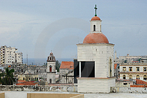 Churches And Roofs Of Havana Royalty Free Stock Images - Image: 6719639