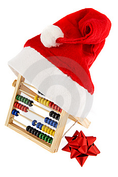 Christmas Cap With Adding Machine Royalty Free Stock Photo - Image: 6720305