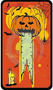 Vector Pumpkin Card Stock Image - Image: 6721981