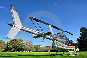 Small Private Helicopter On Grass Stock Photos - Image: 6722383