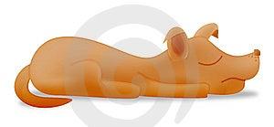 Cartoon Sleeping Dog Stock Images - Image: 6723484