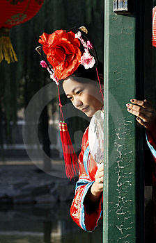Chinese Girl In Ancient Dress  Royalty Free Stock Photography - Image: 6723657