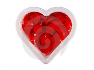 Heart  Filled Red Petals,clipping Path Stock Photos - Image: 6723743