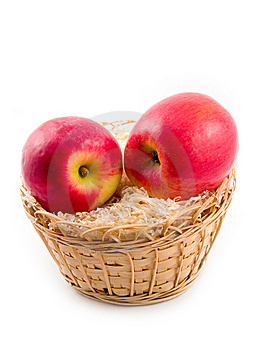 Ripe Apples In Basket Stock Photo - Image: 6724200