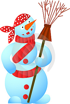 Cool Snowman Royalty Free Stock Image - Image: 6724356