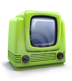 TV Set Royalty Free Stock Image - Image: 6724556