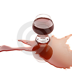 Spilled red wine Royalty Free Stock Photos