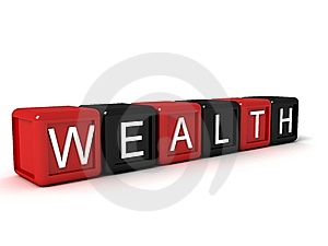 Word The Wealth From Colorful Blocks Royalty Free Stock Photos - Image: 6729418