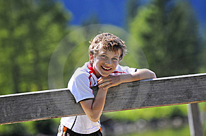 Cute Boy With Cheeky Smile Stock Photos - Image: 6731053