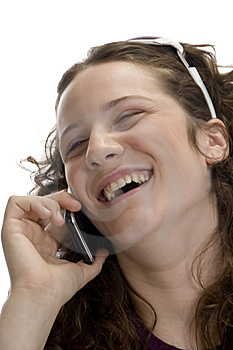 Woman Busy On Mobile Stock Photography - Image: 6732702
