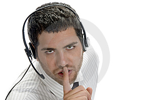 Young Adult Male Shushing Royalty Free Stock Image - Image: 6732886