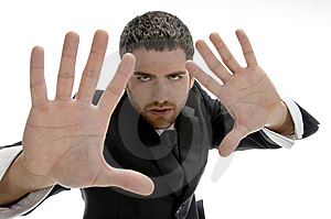 Young Man With Hand Gesture Stock Photography - Image: 6732972