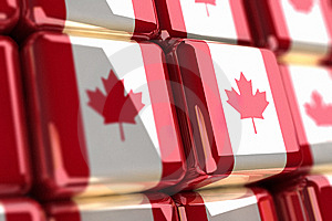Canadian Flag-cube Royalty Free Stock Photos - Image: 6735838