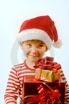 Boy And Presents Royalty Free Stock Images - Image: 6735919