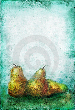 Etches Pears On A Grunge Background Royalty Free Stock Images - Image: 6738179