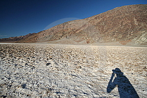 Photographer Shadow At Death Valley Stock Photography - Image: 6738412
