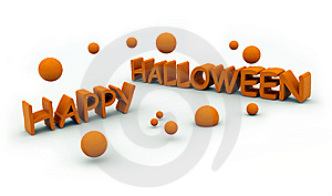 Happy Halloween Text With Jumping Pumpkins Stock Photos - Image: 6739183