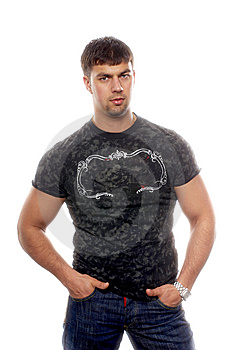 Sexy Handsome Muscular Man Royalty Free Stock Photography - Image: 6740217