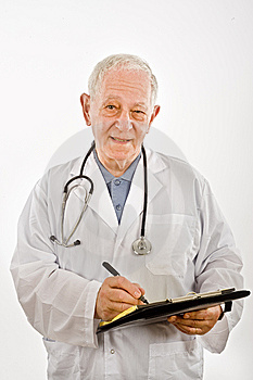 Doctor Writing A Prescription Stock Photo - Image: 6740290