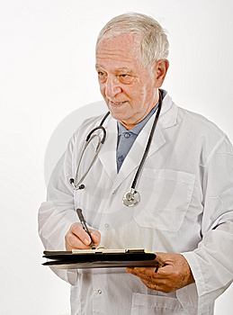 Doctor Writing A Prescription Royalty Free Stock Photo - Image: 6740305