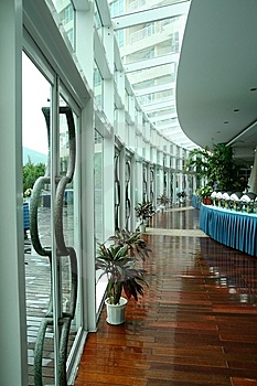 Dinning Hall Corridor Stock Photos - Image: 6740913