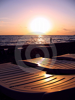 Chaise Longues Stock Image - Image: 6741221