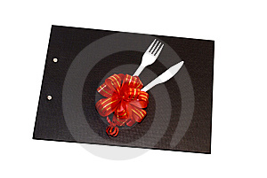Plastic Spoon And Fork On A Black File Royalty Free Stock Photo - Image: 6743245