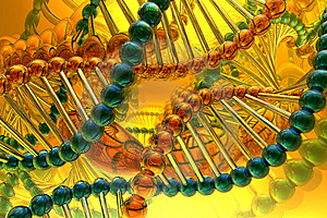 Render of DNA Stock Photos
