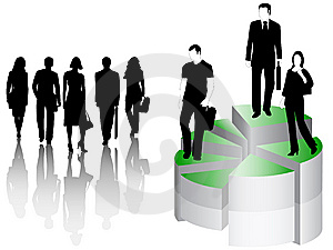 Business People And Graph Stock Photo - Image: 6745140