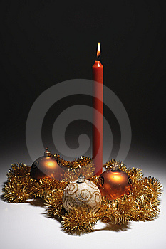 Gold Christmas Decoration Theme Stock Image - Image: 6749631
