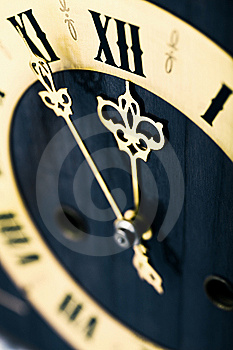 Antique Looking Clock Dial Royalty Free Stock Image - Image: 6750376